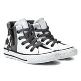 Converse White Floral Chuck Taylor All Star Sport Zip Junior Hi Tops
