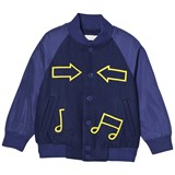 Stella McCartney Kids Blue Bomber Jacket with Musical Notes