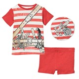 Stella McCartney Kids Red and White Stripe Beach Pyjamas