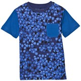 Stella McCartney Kids Green Tee with Dripping Camouflage Print