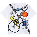 Stella McCartney Kids White Arlow Tee with Band Badges