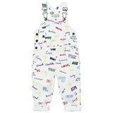 Stella McCartney Kids White Dungarees with Name Print