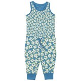 Stella McCartney Kids Blue Overalls with Daisy Print