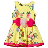Jeycat Yellow Floral and Pink Belted Dress