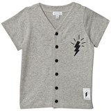 Civiliants Grey Melange Button Tee