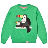 Tootsa MacGinty Kelly Green Toucan Jacquard Knit Jumper