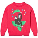 Tootsa MacGinty Red Monkeys Jacquard Knit Jumper