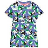 Tootsa MacGinty Blue Toucans Print Jersey Dress