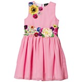 Love made Love Pink Chiffon and Flower Embroidered Dress