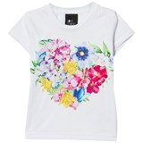 Love made Love White Floral Heart Embellished Tee