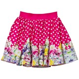 Love made Love Fushcia Polkadot and Floral Print Skirt