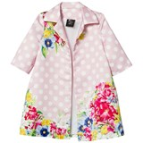 Love made Love Pale Pink Polkadot Floral Print Dress Jacket