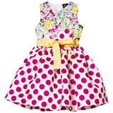 Love made Love Fushcia Polkadot and Floral Print Dress