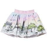 Love made Love Pink 3D Paris Print Tulle Skirt