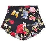Monnalisa Black Butterfly and Flower Print Shorts