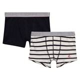 Petit Bateau Pack of 2 Navy and Striped Boxers