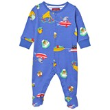 Joules Blue Sea Fun Print Babygrow