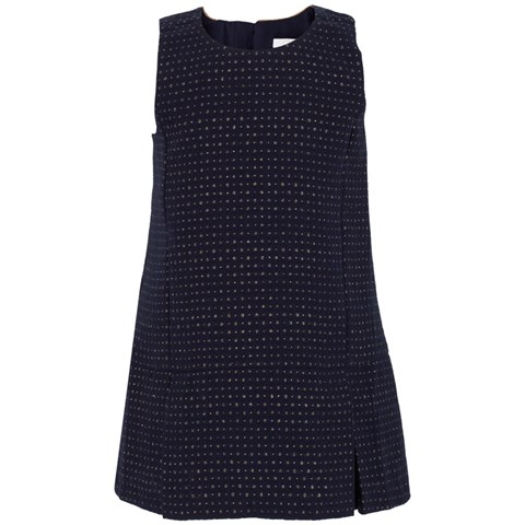 Chloé Navy Polka Dot Bow Dress