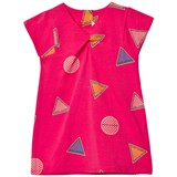 Little Marc Jacobs Pink All Over Branded Print Jersey Dress