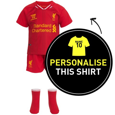 Liverpool FC Red Personalised 2013/14 Home Baby Kit