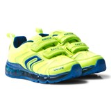 Geox Yellow Neon Velcro Android Light Up Trainers