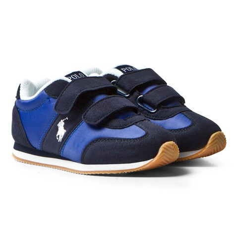 Ralph Lauren Navy and Blue Zuma Velcro Trainers