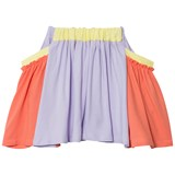RaspberryPlum Coral and Lilac Skirt with Pockets