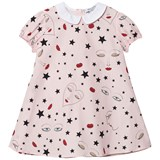 Vivetta Pink Heart and Face Print Collared Dress