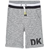 DKNY Grey Marl Sweat Shorts with Rubberised Logo