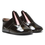 Minna Parikka Black Patent Bunny Crib Shoes