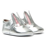 Minna Parikka Silver Patent Bunny Crib Shoes