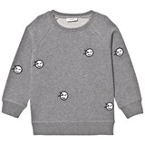 Wynken Grey All Over Wink Face Embroidered Sweatshirt