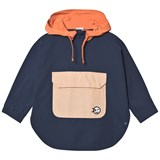 Wynken Navy Colour Block Shower Proof Hooded Poncho