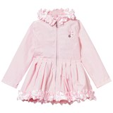 Le Chic Pink Ruffle and Rosette Hooded Coat