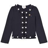 Le Chic Navy Blazer with Rosette Trims
