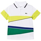 Lacoste Green Multi Stripe Ribbed Collar Shirt