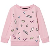 Karl Lagerfeld Kids Pink Branded Icon Sweatshirt