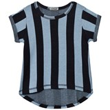 Koolabah Black/Light Blue Striped Tee