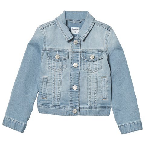 Light Wash Soft Knit Denim Jacket