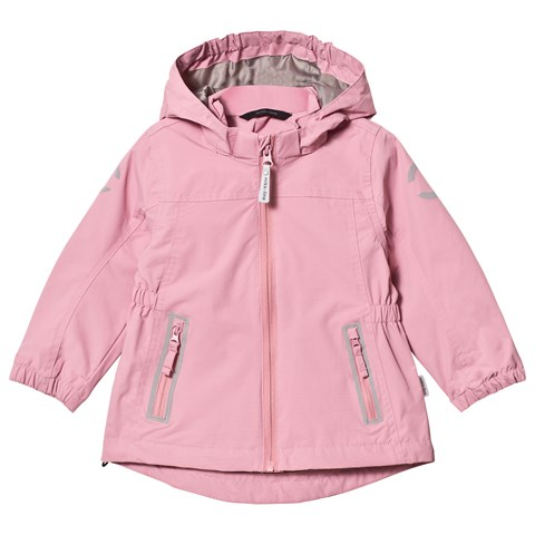 Dusty Rose Nylon Girl Solid Summer Jacket