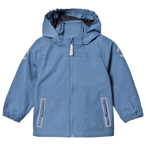 Dark Blue Nylon Boy Solid Summer Jacket