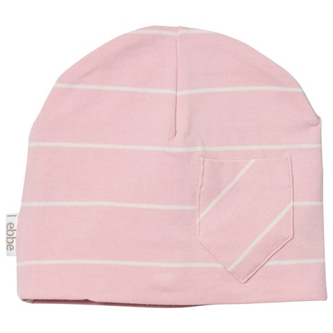 Powder PinkOff White Stripe Extra Beanie