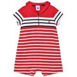 Petit Bateau Red, White and Navy Sailor Collared Romper