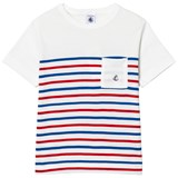 Petit Bateau White, Red and Blue Stripe Tee