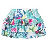 Catimini Mint Jungle Floral Print Ruffle Skirt