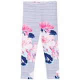 Joules Navy and Floral Stripe Leggings