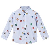 Paul Smith Junior White Bottle Top Print Shirt