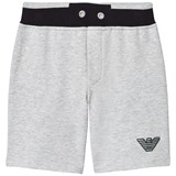 Armani Junior Grey and Navy Branded Sweat Shorts