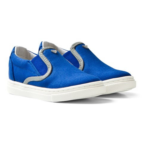 Blue Branded Slip On Shoes