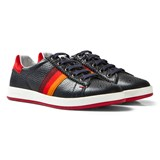 Paul Smith Junior Navy Leather Lace Up Trainers